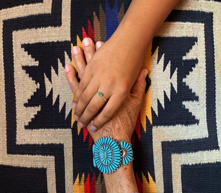 Navajo Grandma and Grandchild